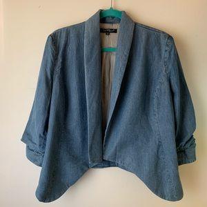 Velvet Heart chambray open blazer jean jacket
